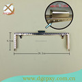 Luxurious golden metal frame with small lock