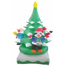 Inflatable christmas tree decoration item With Penguin