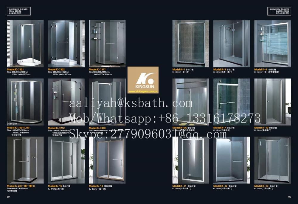 Sanitary Ware Spare Parts 2 Sides Sliding Doors Shower Enclosure In Dubai