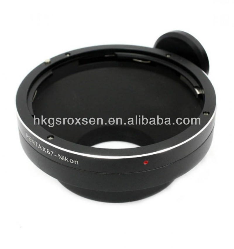 Pentax 67 lens to (for)Nikon F mount adapter