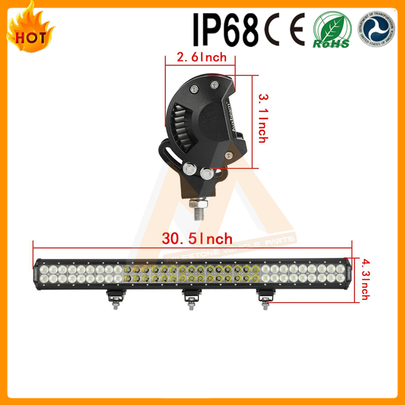 "High brightness wholesale 30.5"" 198w offroad led light bar"