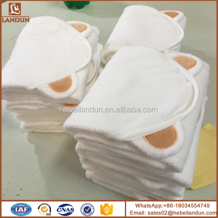 white organic bamboo terry hooded towels with baby washcloth towel