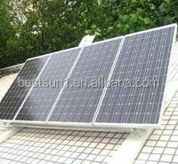 commercial scale utility ground mounted grid 1MW solar power plant