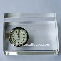 good desk table clock crystal gift crystal table clock