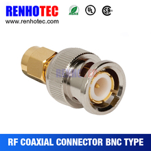 BNC Male to SMA Male RF Coaxial Cable Connector