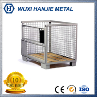 Industrial metal Welded Wire Mesh Storage Pallet Cage For Warehouse Storage(HJ-MC055)