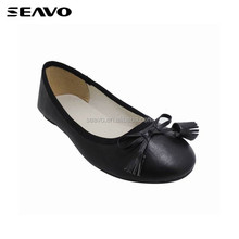 SEAVO SS17 classic black pump style tassels adorn women floater dress shoes