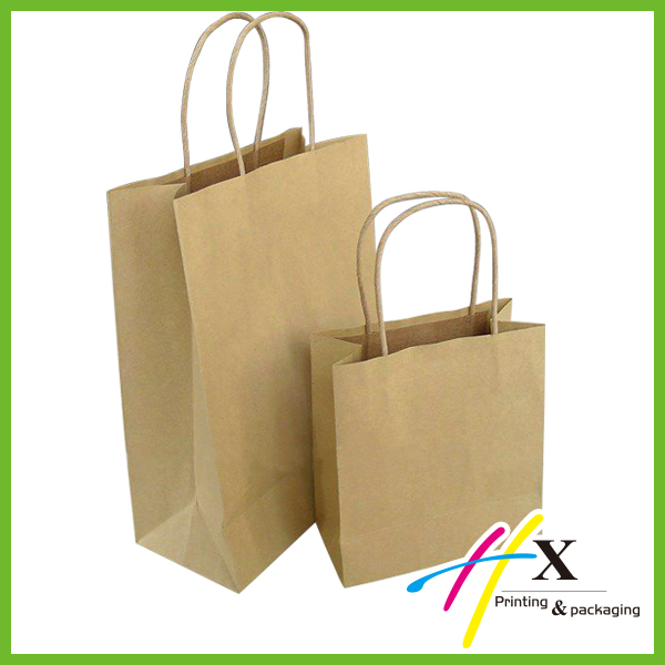 Eco-friendly walmart paper bags in different sizes