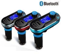 T66 Bluetooth Wireless Handsfree Car Kit With Dual USB port charger SD MP3 player FM Transmitter