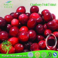 GMP &HALAL Cranberry Fruit Extract / Cranberry prices/ cranberry p.e.- NutraMax Supplier