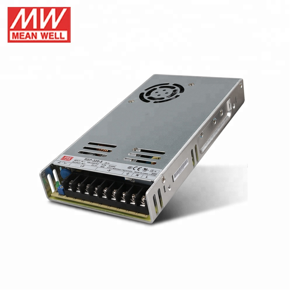 Meanwell RSP-320-5 Single Output 320W 5V Switching Mode Power Supply PFC