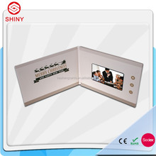 4.3inch LCD video business card ,video player greeting card ,promotional card with video
