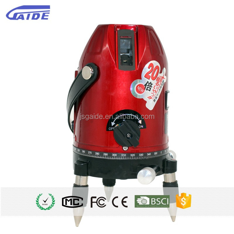 Cheap prices rotating measuring plastic red 360 automatic self leveling 2mm / 10m cross line laser level