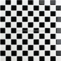Mixed black and white mosaic tile factory