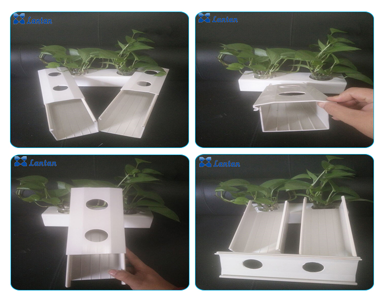 Hot Sales Good materilas PVC nft hydroponic channel for Greenhouse soilless cultivation