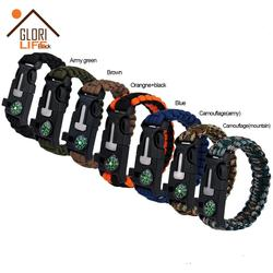 Survival Gear Life Free Bracelet Made Of Paracord
