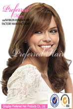 Wholesale top quality 18'' 30# super wave 100% virgin human hair wig with beautiful fringe accept Escrow