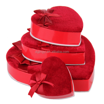 2016 Christmas style leather heart shaped chocolate box packaging