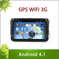 "8"" 2 din VW T5 android 4.1 car DVD with Radio,GPS,Ipod,Bluetooth,SWC,Wifi,PIP,3D UI"