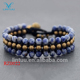 Fashion jewelry hot sale natural stone bead thai style brass bell bracelet with factory price