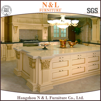 High End Knock Down Kitchen Cabinets Solid Wood Teak Wood