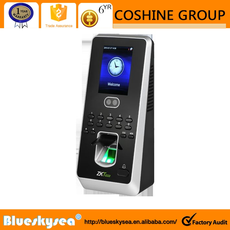 "ZK Software 2.8"" Touch MultiBio800 Face Fingerprint Recognition Time Attendance"