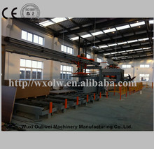 floor and other boards processing line of hot press