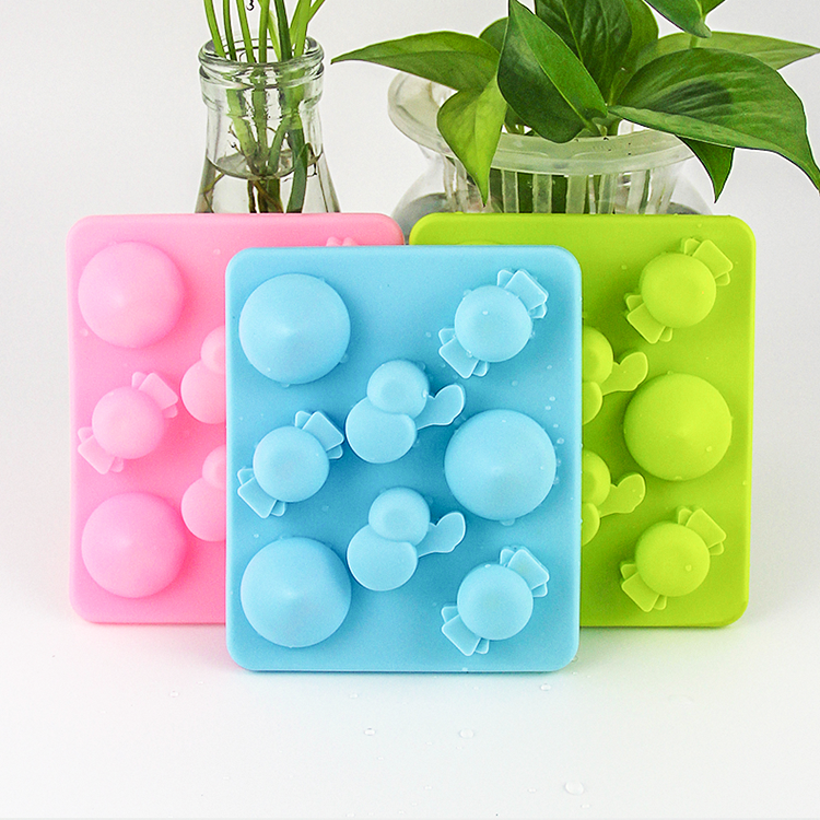 Christmas silicone custom ice tray personalized cute shapes ice cube tray