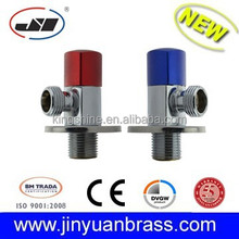 Polished chrome plated Forged Brass Angle Valve taizhou aluminum handle 1/2 blue red