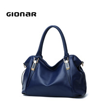 Online Large Volume Travel UK Style Shopping Soft PU Leather Women Tote Bags