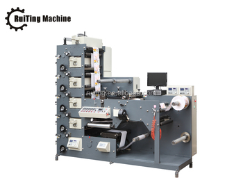 RTRY-320E web roll label flexographic printing machine printer