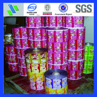 hot sale PE color printing plastic packing film on roll