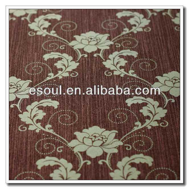 2013 Esoul Rose Garden PVC wallpaper with hot sales