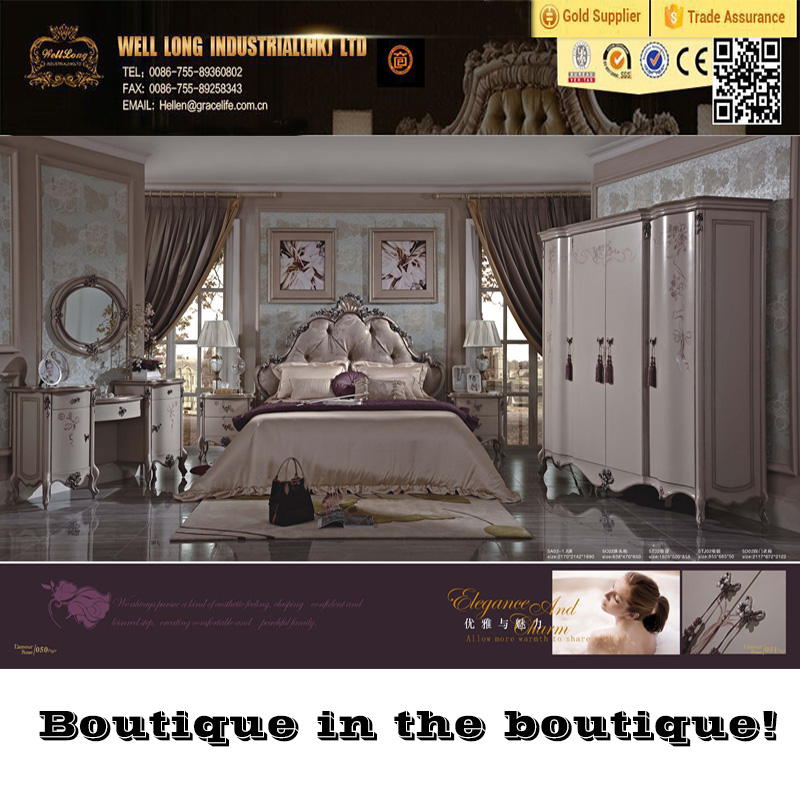 Unique design for your happy life, Louvre style furniture ,European classic style bedroom set, Romantic bedroom furniture