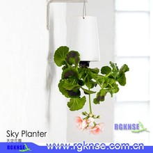 wholesale factory price upside down self watering sky planter hang mini smart garden flowerpot
