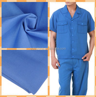 T/C80%polyester 20%cotton 124*69 21*21 dyed fabric for workwear uniform fabric Top ten textile fabric manufacturer in China 2017