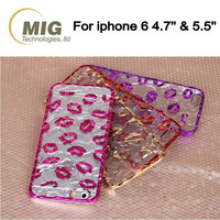 For iphone 6s case Tin Foil lips style PC Phone cases For apple iphone 6