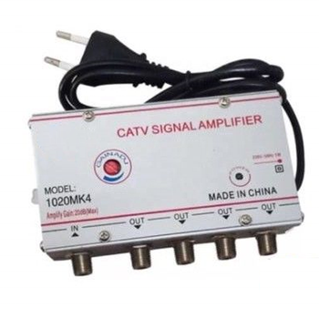 4 ways CATV Signal Amplifier with Gain and Equalizer Adjustment