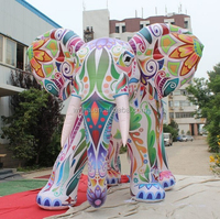 Newly!!! event advertising inflatable ELEPHANT/4M/multicolor/elephant balloon/cartoon/model/animal/character/replica W513