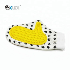 Pet Grooming Glove Dog Grooming Hair Removal Mitts Deshedding Glove