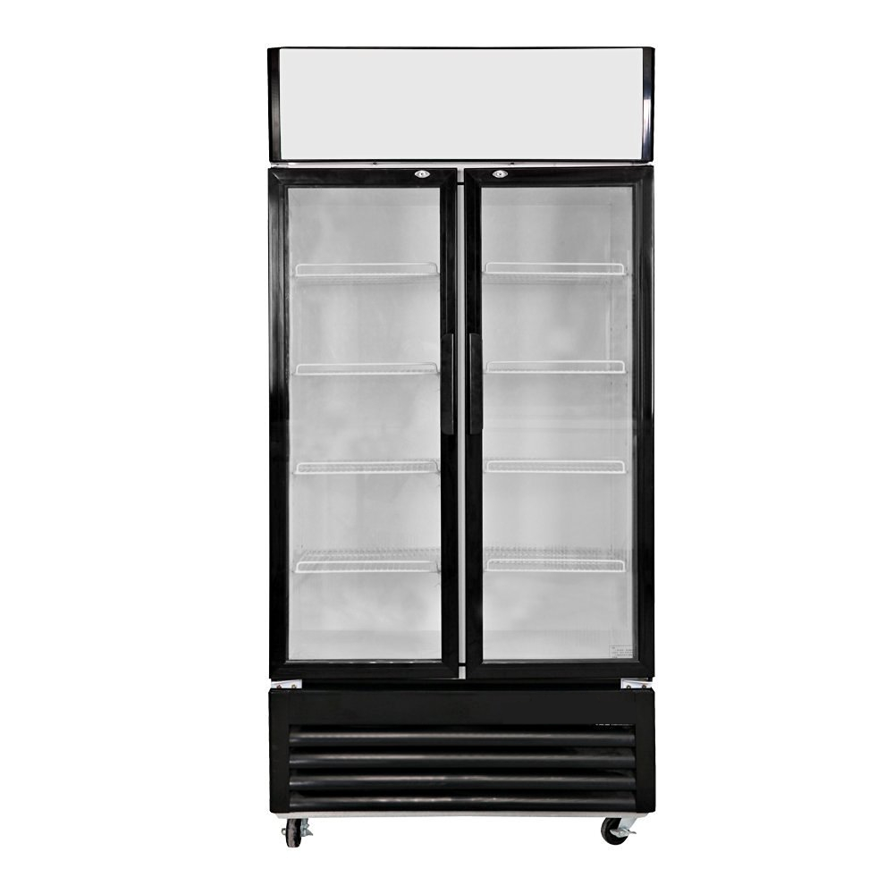 Commercial Showcase Display Glass Door Drink Refrigerator For