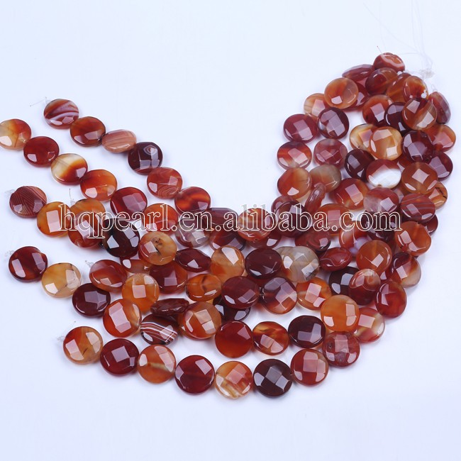 Charming red color jewellery stone agate