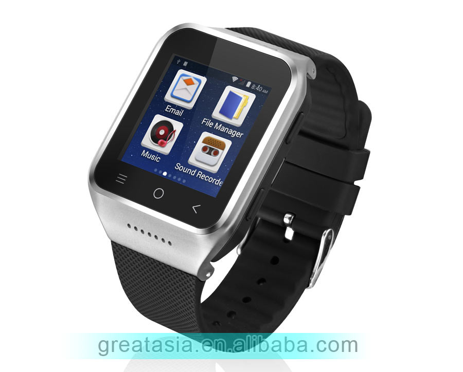 3G WCDMA Android Watch Phone with camera and sim card slot smart watch