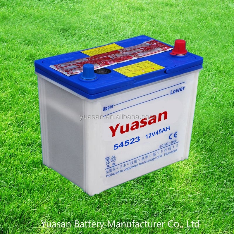 12V 44AH Yuasan A-Class Auto Starter Lead Acid Dry DIN Car Battery -54523(DIN44)