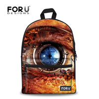Fashion Eye Second Hand Canvas Backpack On Business