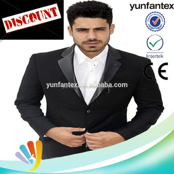2018 italian fashion lastest Black business slim fit polyester blazer for men