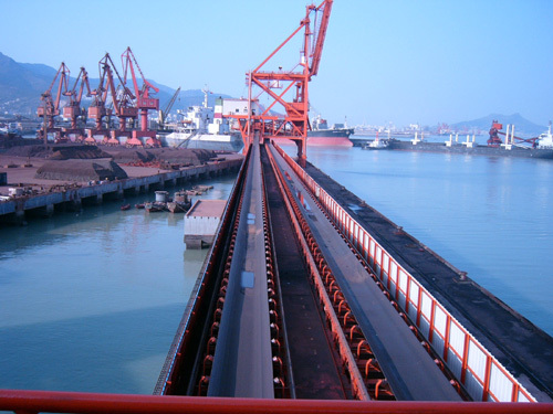 Long distance heavy load Belt conveyor use for bulk materials handling (ISO CE certified plant)