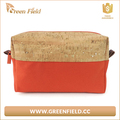 2017 New Fabric Wood Cosmetic Bags Natural Cork Stylish Toiletry Bag