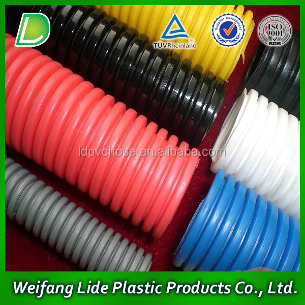 pvc plastic suction reinforced water hose pipe China manufacture