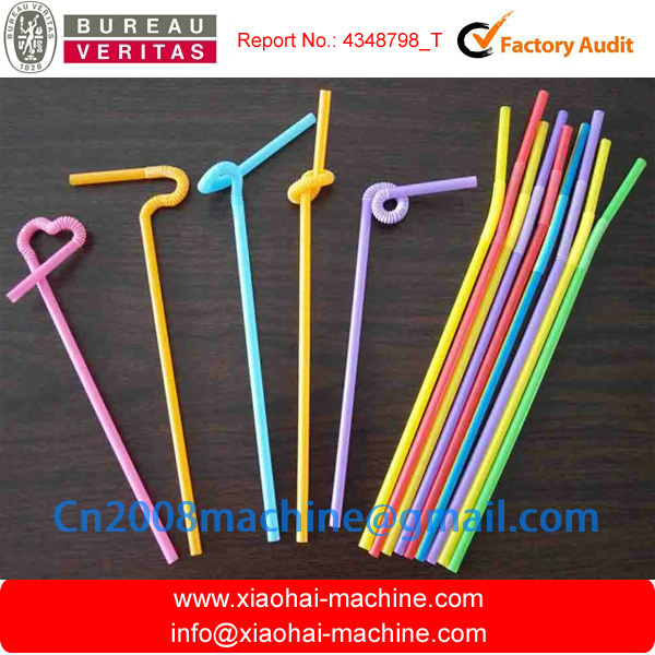 HAS VIDEO Straight / Flexible PP PE plastic drinking straw extrusion making machine for juice,coffee stir,milk